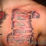 tattoo the names of men - Photo example of the finished tattoo on 06032016 1