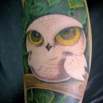 white owl tattoo 1