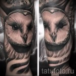 white owl tattoo 2