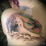 white wolf tattoo - Foto einer Ausführungsform des fertigen Muster 29032016 1