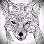 морда лисы тату эскиз - смотреть картинки от 25-04-2016 2