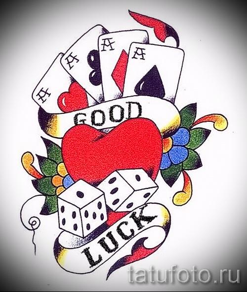 Эскизы: игральные карты 6 фото татуировки