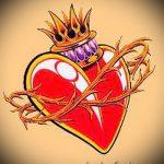 олд скул тату эскизы сердца 2