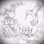 татуировки цветы эскизы - рисунки от 26-04-2016 1