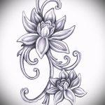 татуировки цветы эскизы - рисунки от 26-04-2016 2