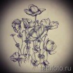 татуировки цветы эскизы - рисунки от 26-04-2016 3