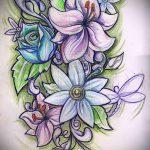 татуировки цветы эскизы - рисунки от 26-04-2016 4