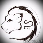 тату знаки зодиака лев эскизы - рисунки для татуировки от 29042916 2