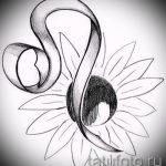 тату знаки зодиака лев эскизы - рисунки для татуировки от 29042916 5