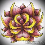 тату роза олд скул эскизы - смотреть прикольную картинку 12