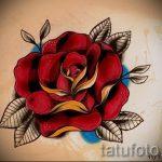 тату роза олд скул эскизы - смотреть прикольную картинку 3