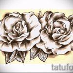 тату роза олд скул эскизы - смотреть прикольную картинку 5