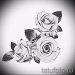 тату розы черно белые эскизы 1