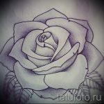 тату розы черно белые эскизы 2