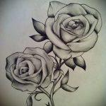 тату розы черно белые эскизы 3