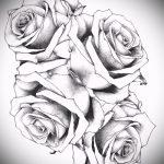 тату розы черно белые эскизы 4