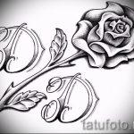 тату розы черно белые эскизы 5