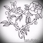 тату розы черно белые эскизы 6