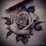 тату розы черно белые эскизы 7