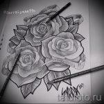 тату розы черно белые эскизы 8