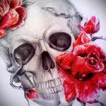 тату розы эскизы карандашом 4