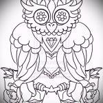 тату совы американские эскизы 14