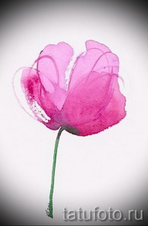 Акварельные тату цветы эскизы