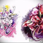 тату цветы эскизы акварель - рисунки от 26-04-2016 23