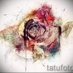 тату цветы эскизы акварель - рисунки от 26-04-2016 5