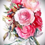 тату цветы эскизы акварель - рисунки от 26-04-2016 6