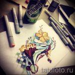 тату цветы эскизы акварель - рисунки от 26-04-2016 7
