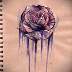 тату цветы эскизы акварель - рисунки от 26-04-2016 8