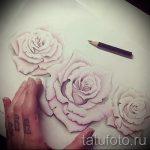 тату цветы эскизы акварель - рисунки от 26-04-2016 9
