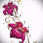 тату цветы эскизы для девушек - рисунки от 26-04-2016 10