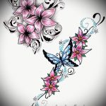 тату цветы эскизы для девушек - рисунки от 26-04-2016 2