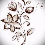 тату цветы эскизы для девушек - рисунки от 26-04-2016 4