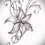 тату цветы эскизы для девушек - рисунки от 26-04-2016 5