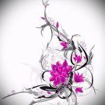 тату цветы эскизы для девушек - рисунки от 26-04-2016 7