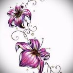 тату цветы эскизы для девушек - рисунки от 26-04-2016 8