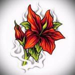 тату цветы эскизы цветные - рисунки от 26-04-2016 1