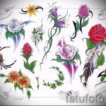 тату цветы эскизы цветные - рисунки от 26-04-2016 11