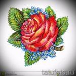 тату цветы эскизы цветные - рисунки от 26-04-2016 5