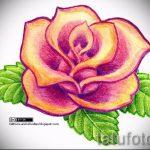тату цветы эскизы цветные - рисунки от 26-04-2016 6