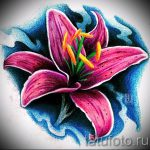 тату цветы эскизы цветные - рисунки от 26-04-2016 8