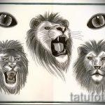 тату эскизы лев на икре - рисунки для татуировки от 29042916 1