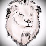 тату эскизы лев на икре - рисунки для татуировки от 29042916 3
