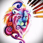 тату эскизы лев на икре - рисунки для татуировки от 29042916 4
