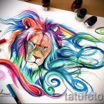 тату эскизы лев на икре - рисунки для татуировки от 29042916 5