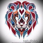 тату эскизы лев на икре - рисунки для татуировки от 29042916 6