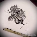 тату эскизы оскал льва на плече - рисунки для татуировки от 29042916 3